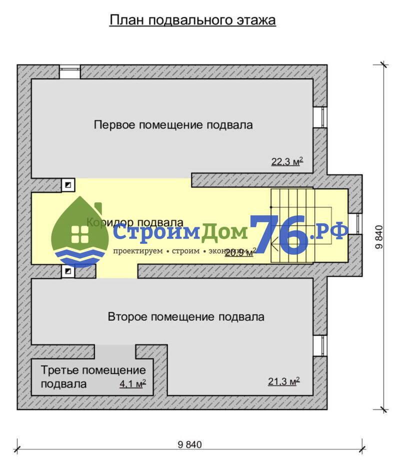 План подвального этажа - Проект СД-78