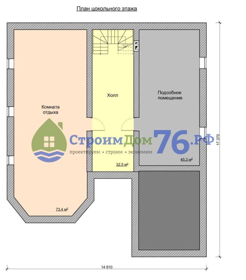 План цокольного этажа - Проект СД-63