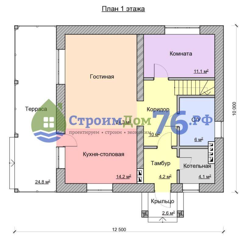 План 1 этажа - Проект СД-53