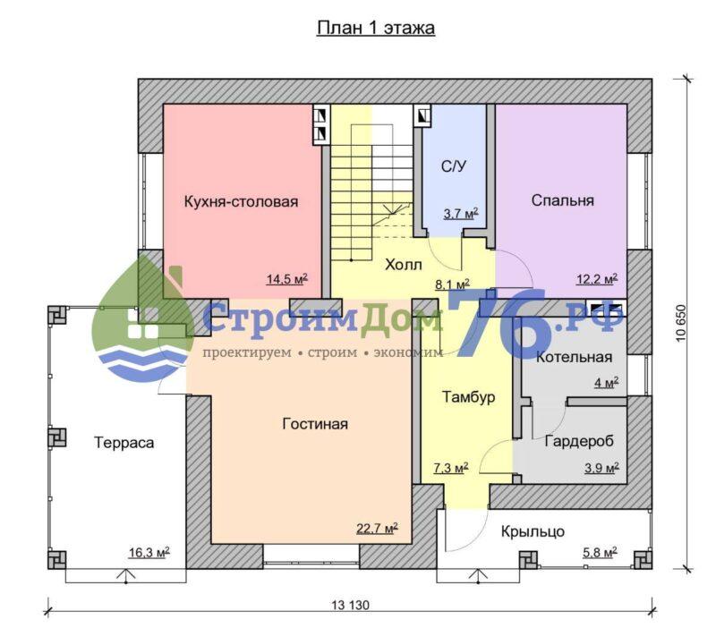 План 1 этажа - Проект СД-57