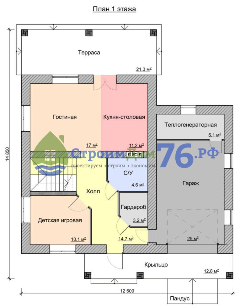 План 1 этажа - Проект СД-67