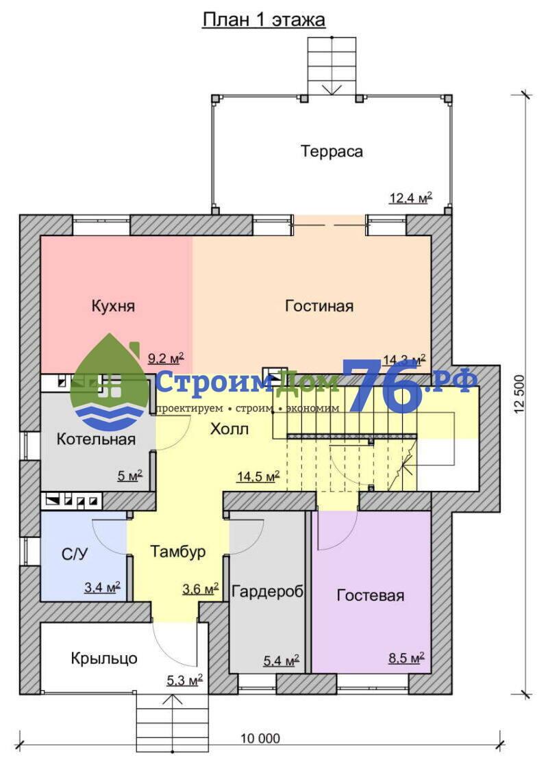 План 1 этажа - Проект СД-78