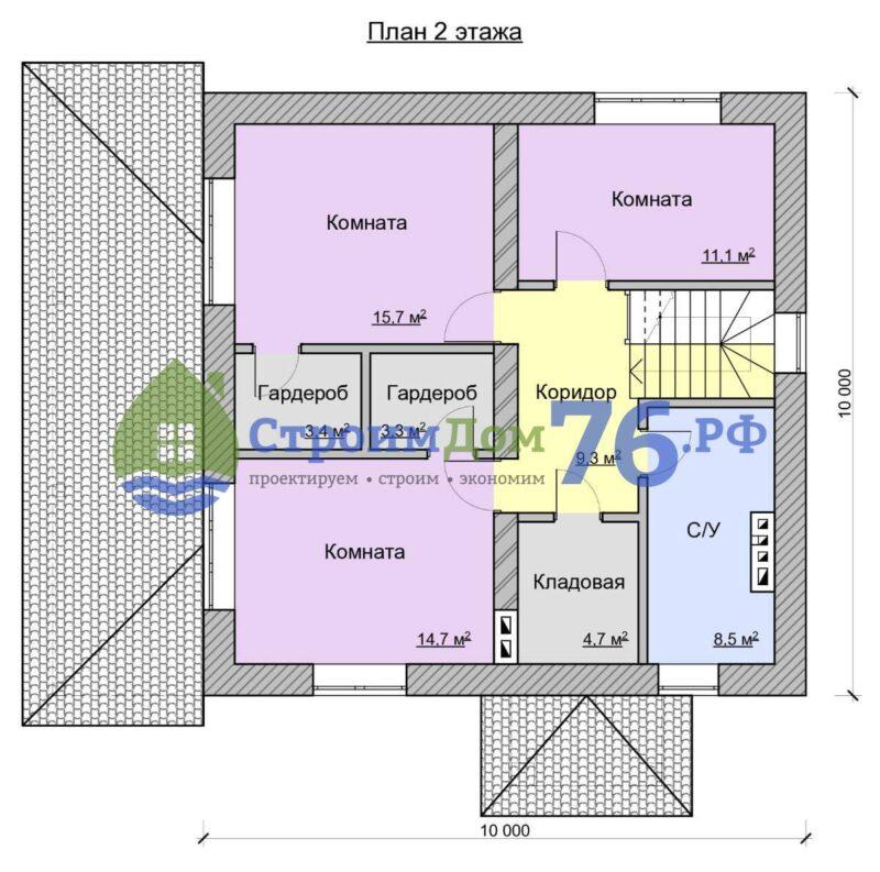 План 2 этажа - Проект СД-53