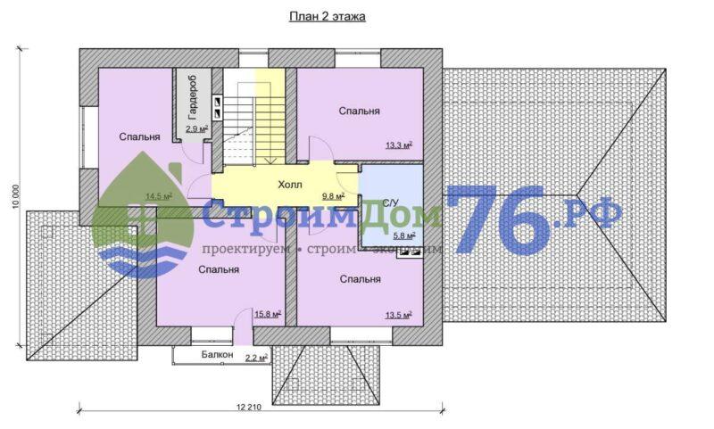План 2 этажа - Проект СД-54