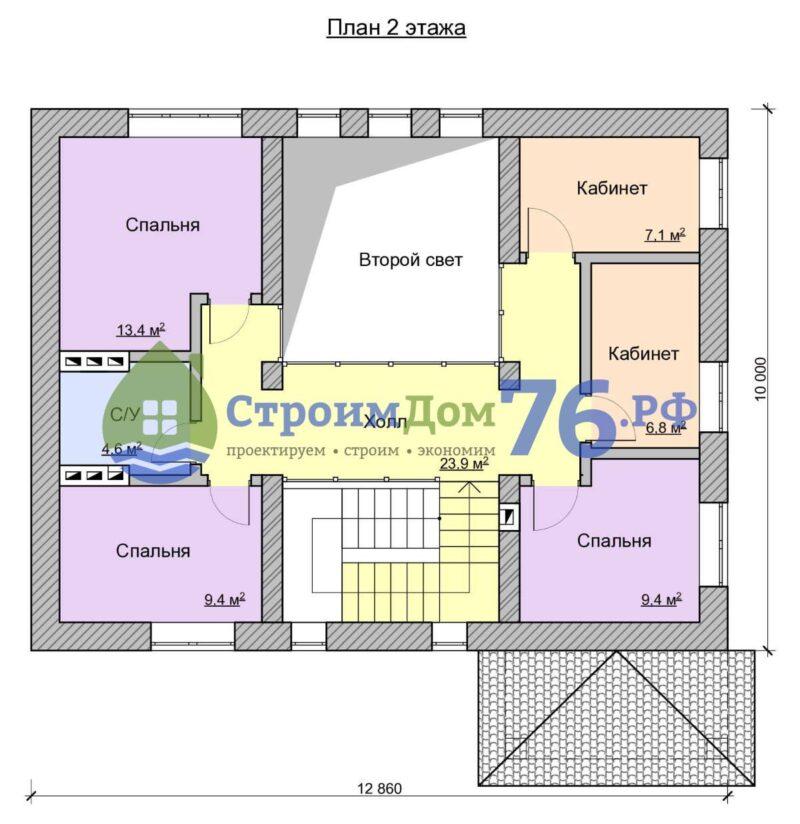 План 2 этажа - Проект СД-55