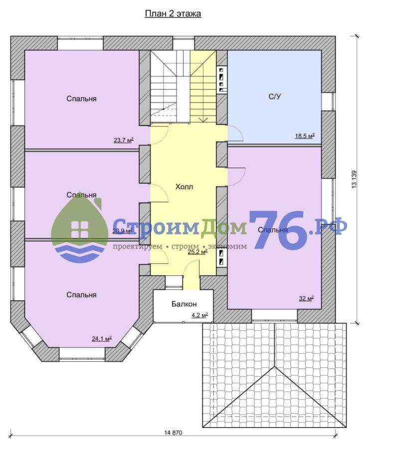 План 2 этажа - Проект СД-63