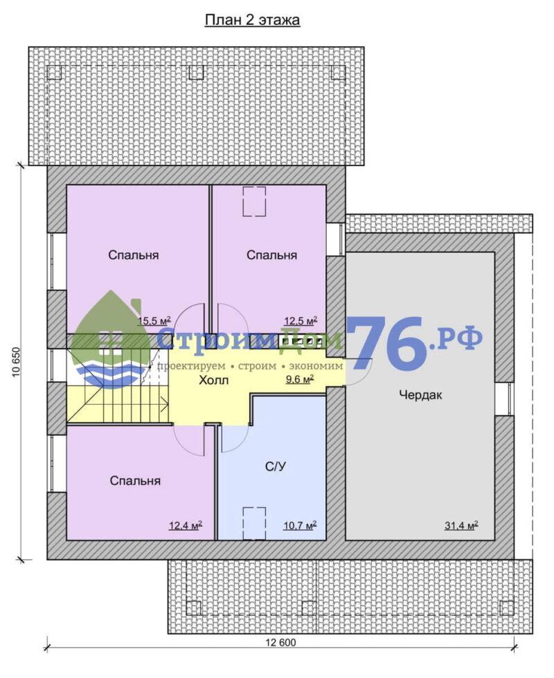 План 2 этажа - Проект СД-67