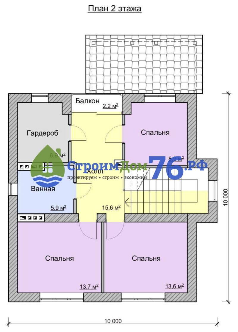 План 2 этажа - Проект СД-78