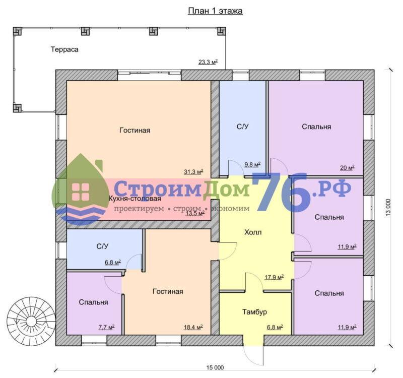 Проект СД-60 - План этажа