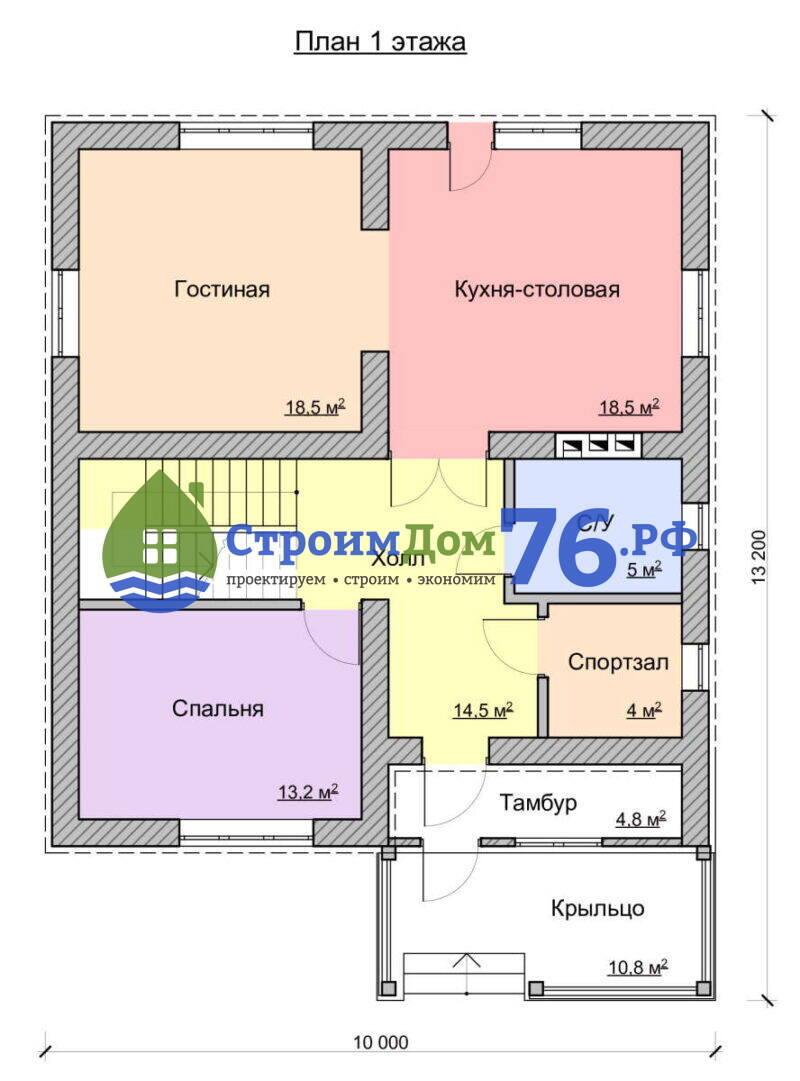 Проект СД-71 - План 1 этажа