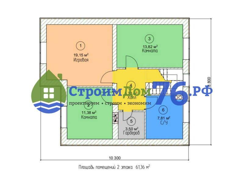 Проект СД-72 - План 2 этажа