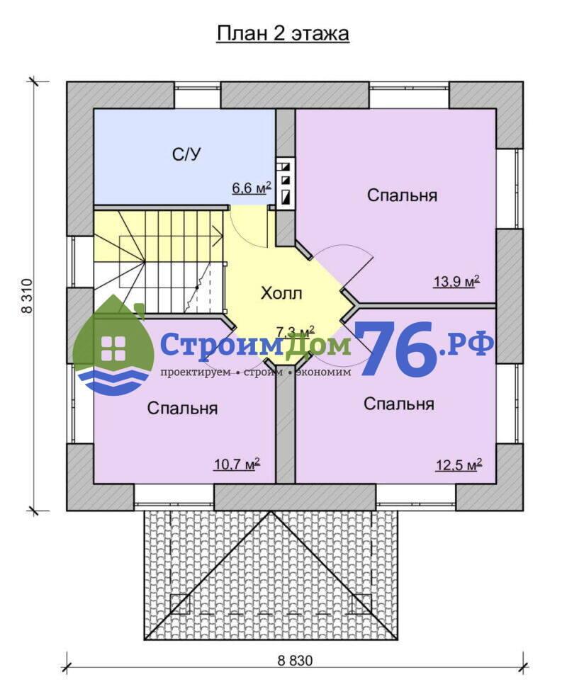 Проект СД-73 - План 2 этажа