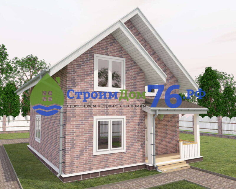 Проект каменного дома из газобетона СД-74