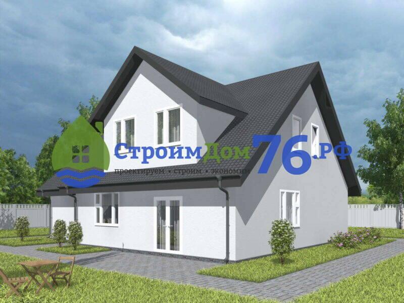 Проект каменного дома из газобетона СД-75