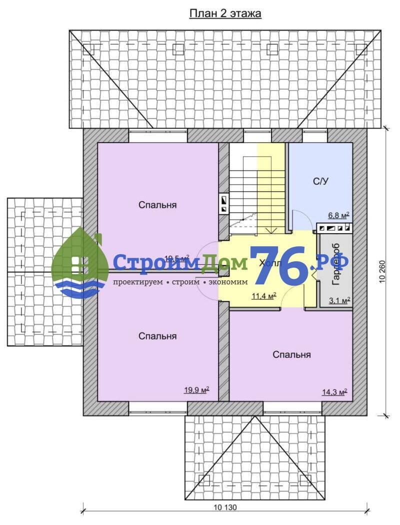 Проект СД-77 - План 2 этажа