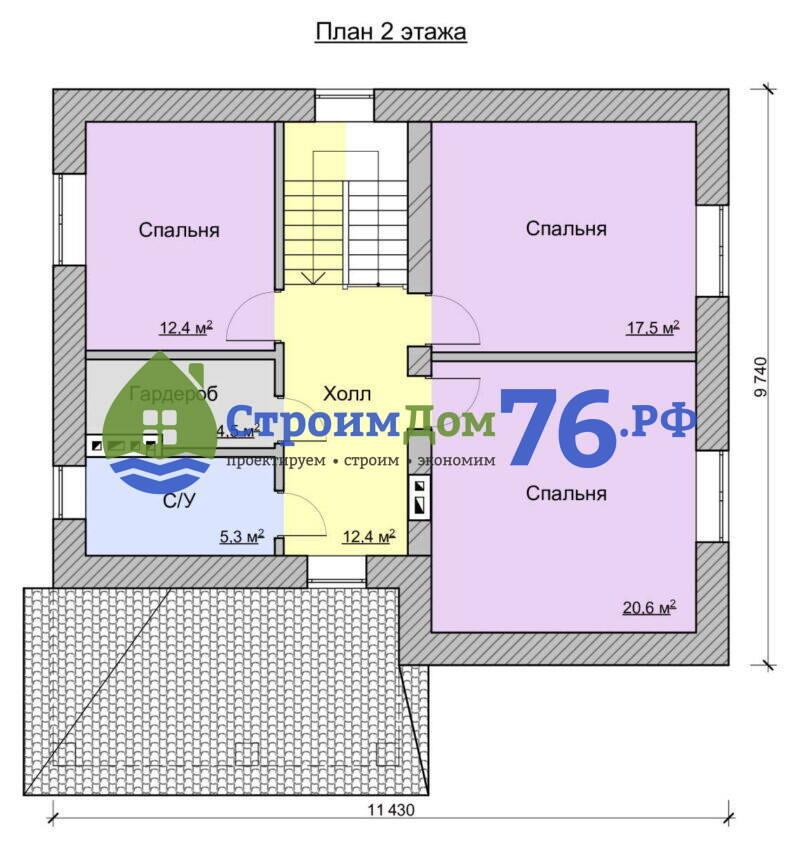 Проект СД-80 - План 2 этажа