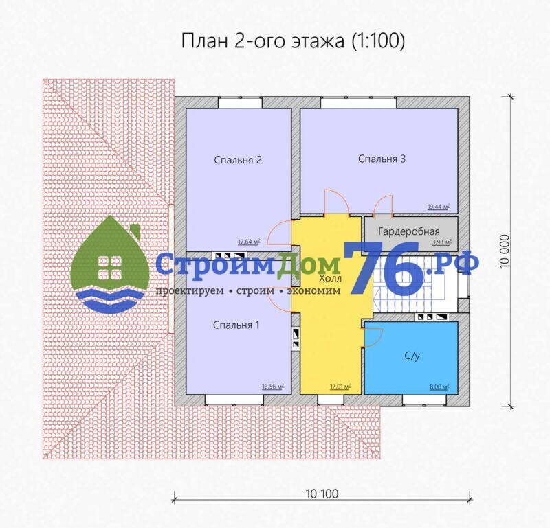 Проект СД-81 - План 2 этажа